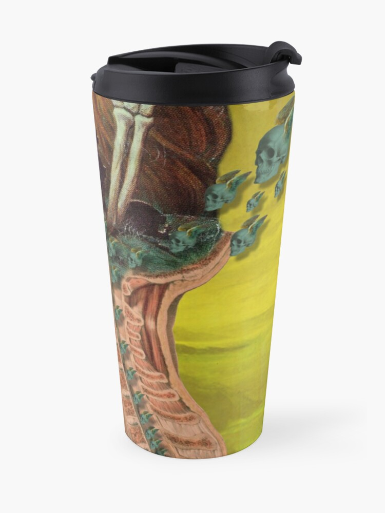 Alternate view of Flying skulls Travel Mug