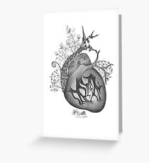 there's an empty space inside my heart where the weeds take root Greeting Card
