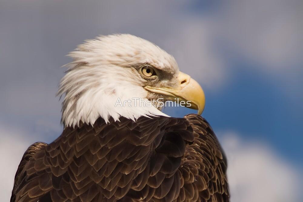 """Eagle One"" - closeup portrait of a bald eagle by ArtThatSmiles"
