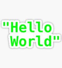 Hello world ! Sticker
