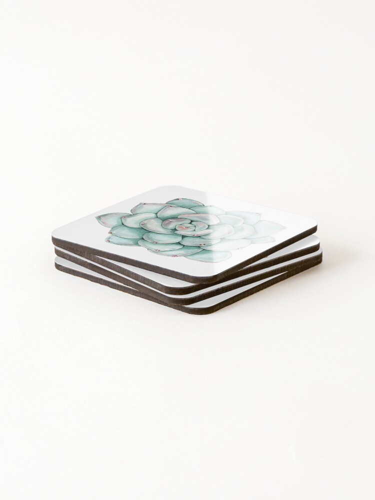 Alternate view of Succulent, watercolor Coasters (Set of 4)