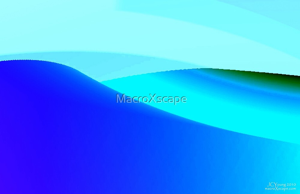 Blue and Green Landscape by MacroXscape