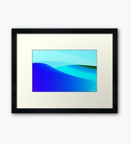 Blue and Green Landscape Framed Print