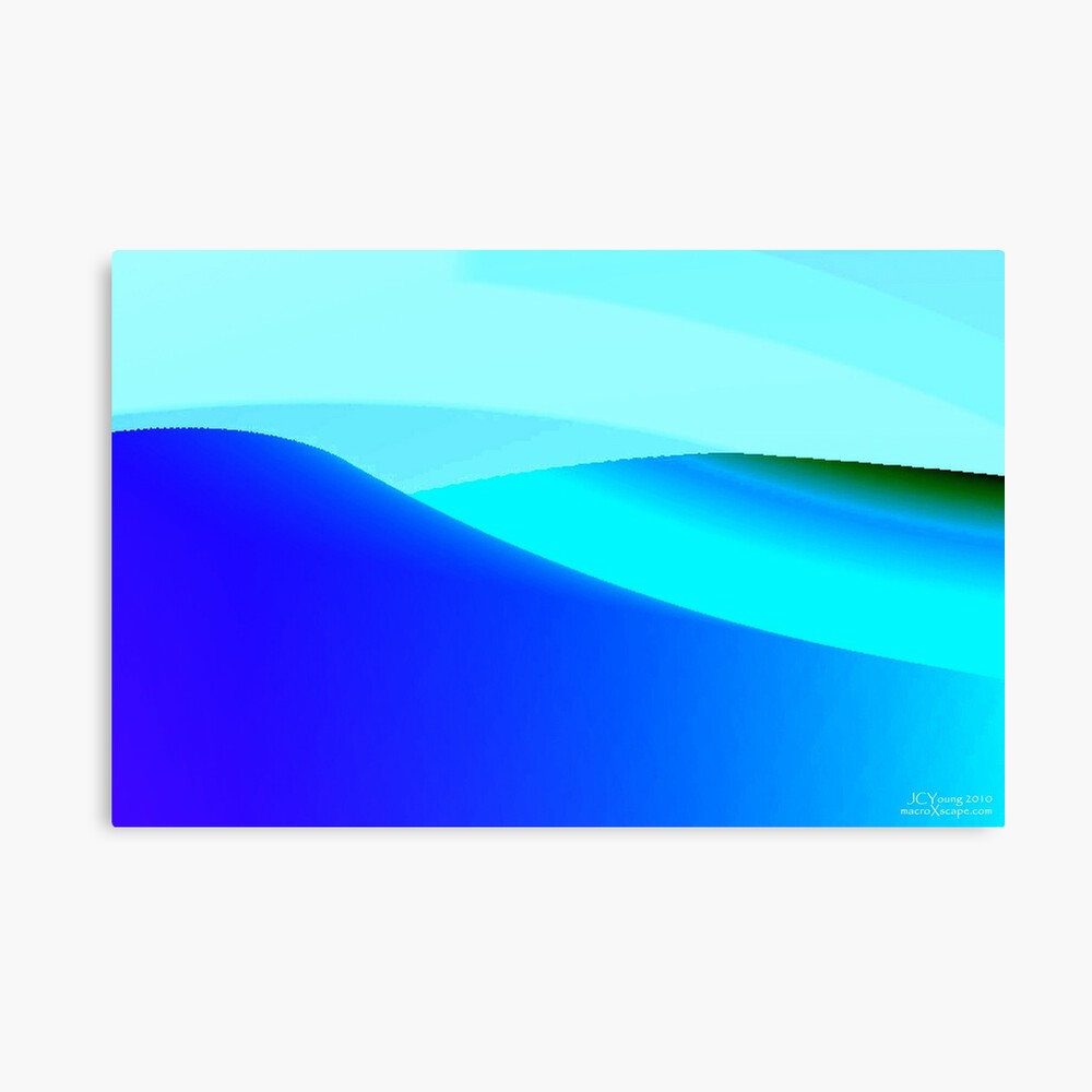 Blue and Green Landscape Canvas Print