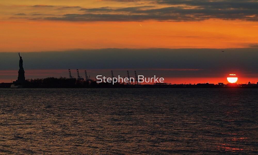 Hudson River Sunset by Stephen Burke