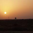 Sunset over Guardhouse, El Gorah, Sinai by dizzyshell42