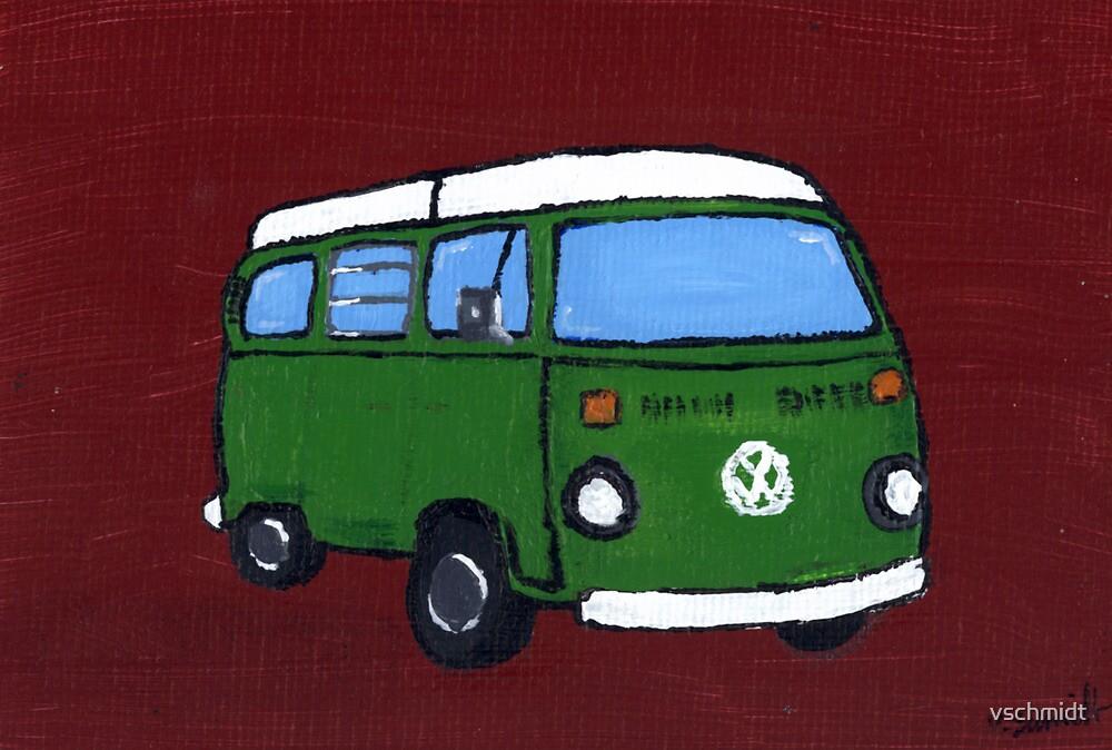 Green VW camper by vschmidt