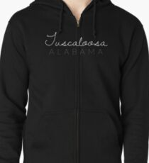 Tuscaloosa, Alabama Zipped Hoodie