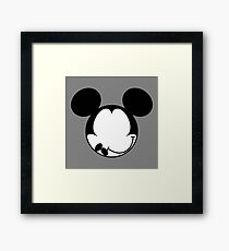 DISMAL MOUSE Framed Print