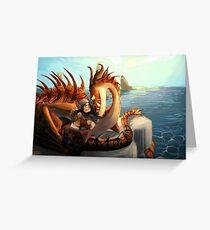 Hookfang and Snotlout Greeting Card