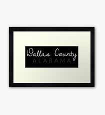 Dallas County, Alabama Framed Print