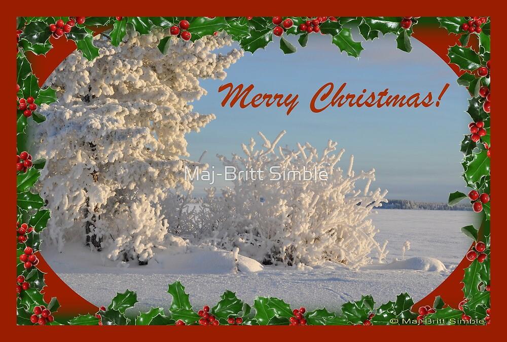 Merry Christmas - card8  :-) by Maj-Britt Simble