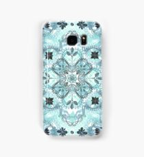 Soft Mint & Teal Detailed Lace Doodle Pattern Samsung Galaxy Case/Skin