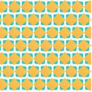 Teal and yellow square pattern by Cynthia Haller