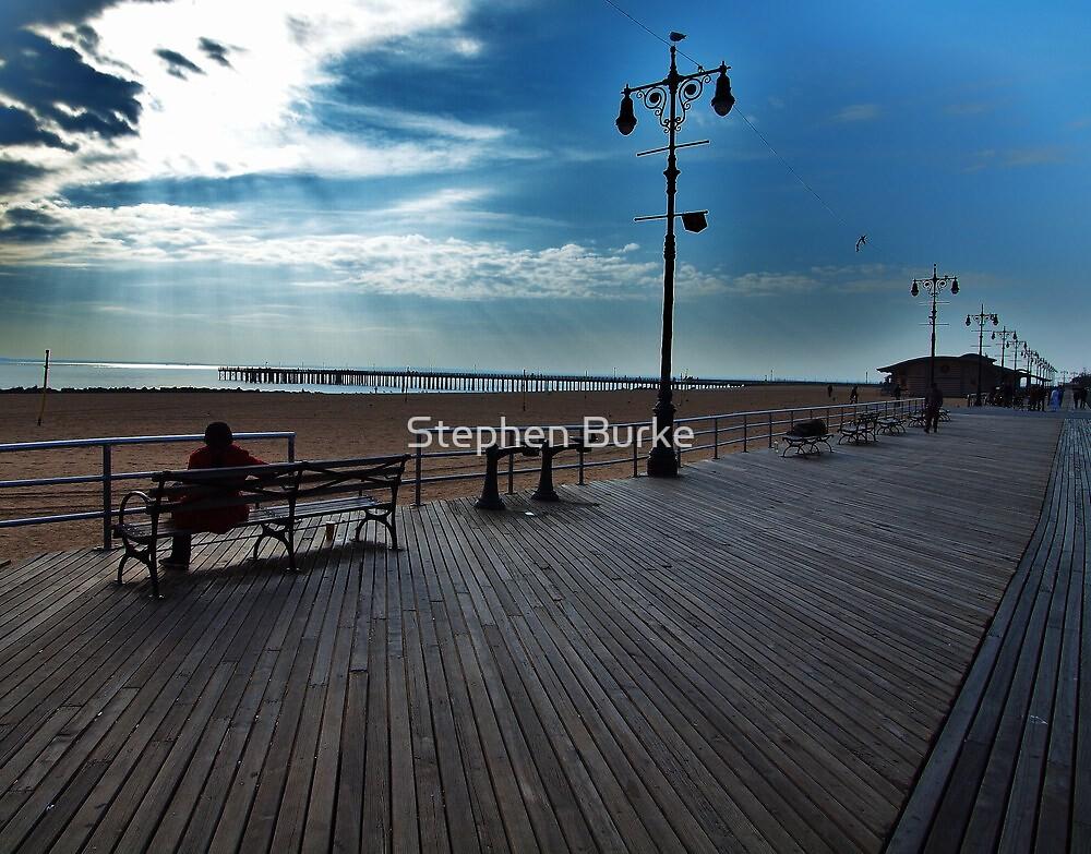 Coney Island Boardwalk by Stephen Burke