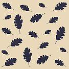 Fall pattern blue oak leaves by by-jwp