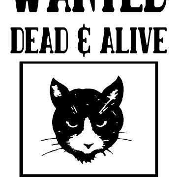 Wanted schrodingers cat geek funny nerd by antoharjo