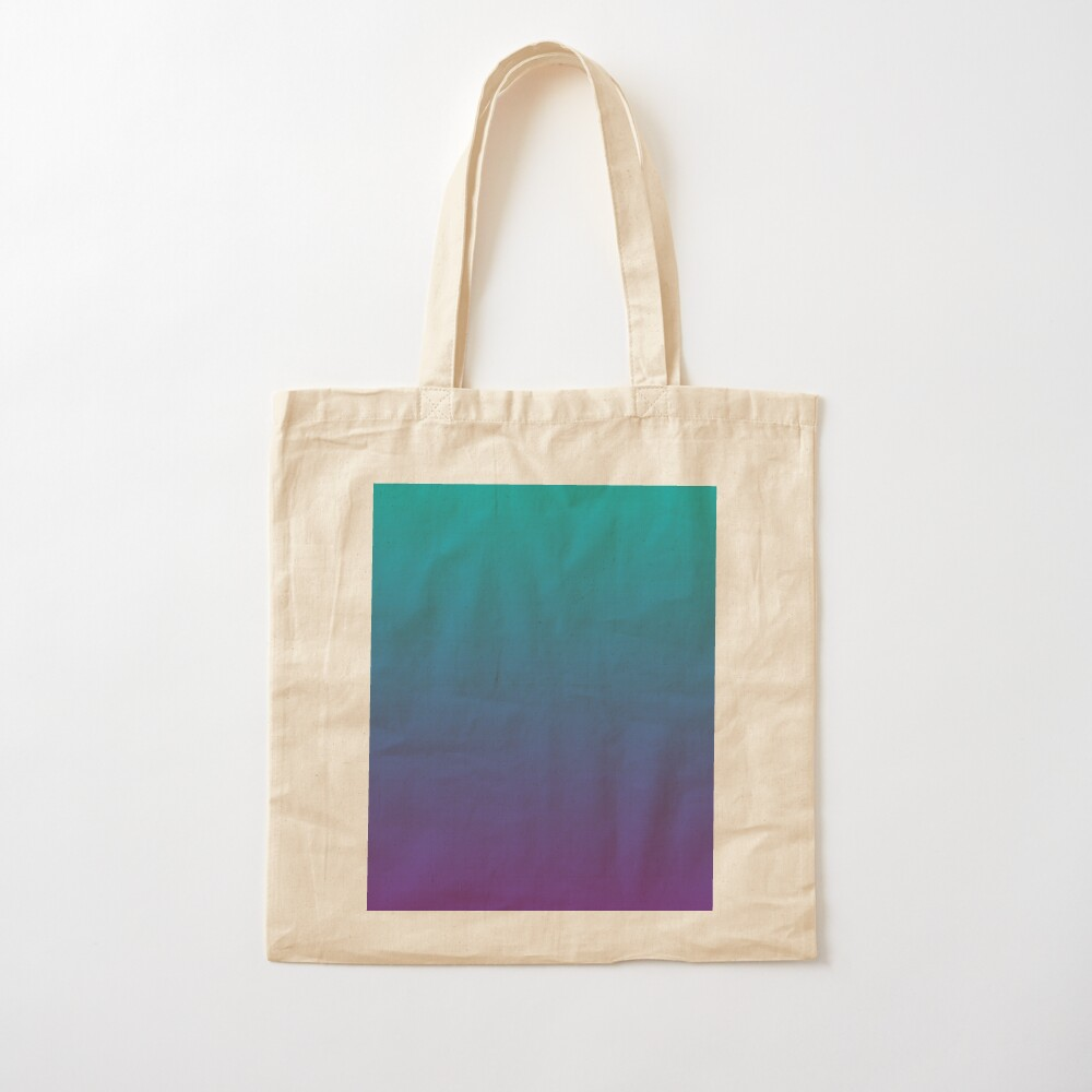 Ombre   Gradient Colors   Teal and Purple    Cotton Tote Bag