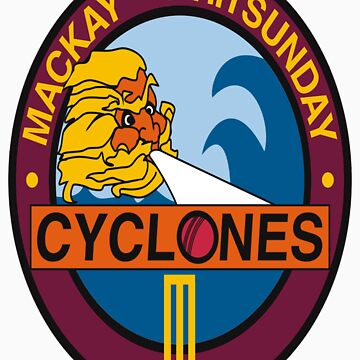 Mackay Whitsunday Cyclones Front Style by Mackayhurricane