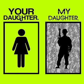 Your daugher my daughter military parent geek funny nerd by antoharjo
