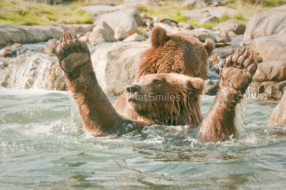 """""""Score!"""" - brown bears playing by ArtThatSmiles"""