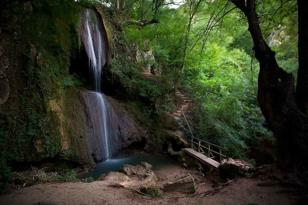 Soko Banja Waterfall  by Sam Ilic