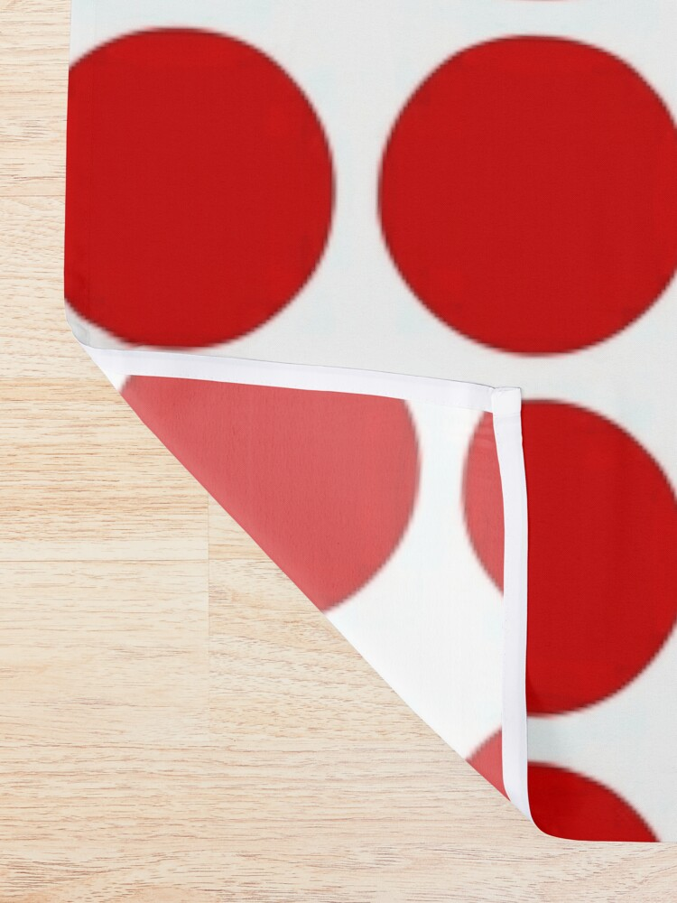 Alternate view of Red Dots Pattern Red & White Shower Curtain