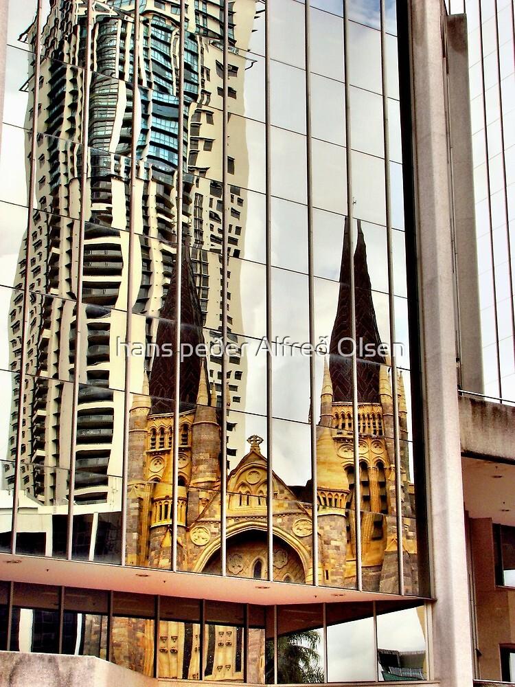 Brisbane reflection by hans peðer alfreð olsen