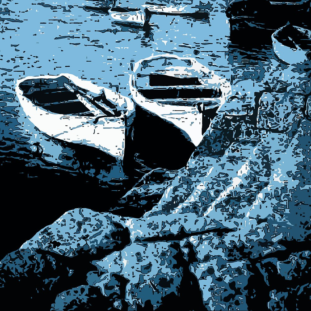Rowboats in Abstract by Andrew  Bailey