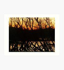 dark horizon at dusk Art Print
