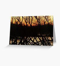 dark horizon at dusk Greeting Card
