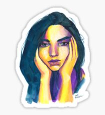 Expressive Color Study Sticker