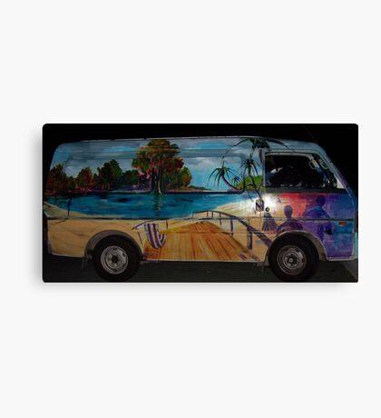 The Travelin' mans colourful van...deceased Canvas Print