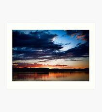 Lake Burley Griffin Sunset Art Print