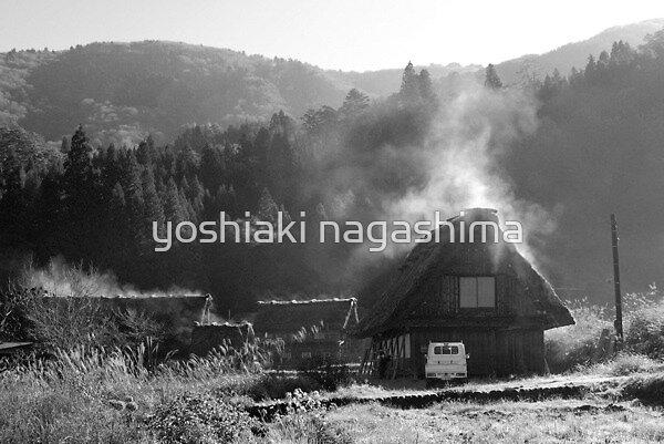 Morning Steam house (2), Sirakawago JAPAN by yoshiaki nagashima