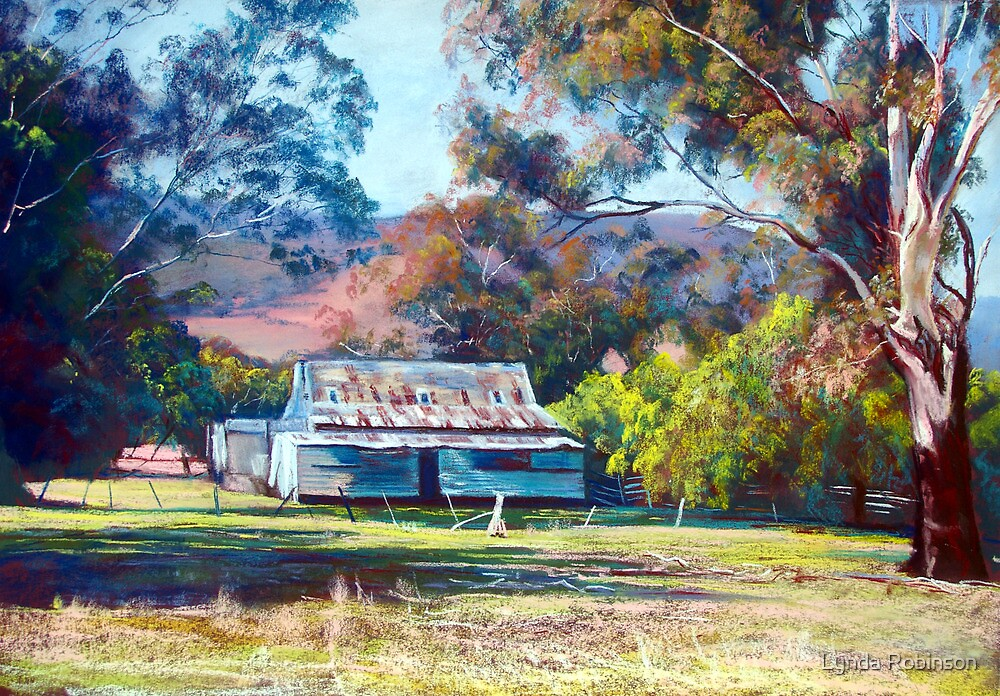Tom's Shearing Shed - Tallarook by Lynda Robinson