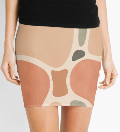 Terracotta Shapes #redbubble #abstractart Mini Skirt