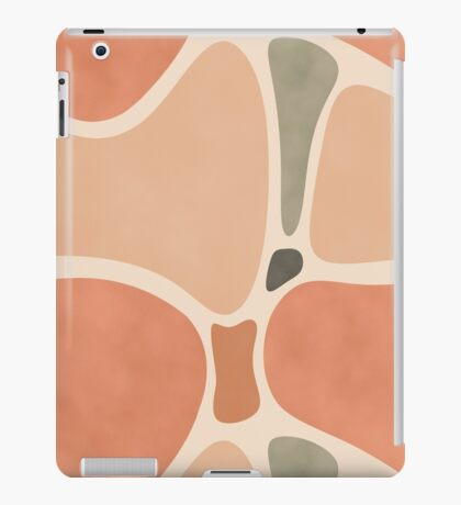 Terracotta Shapes #redbubble #abstractart iPad Case/Skin