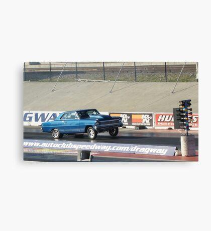 Blue ... Powered; Fomoso Raceway; California USA; Summit Series Racing Canvas Print