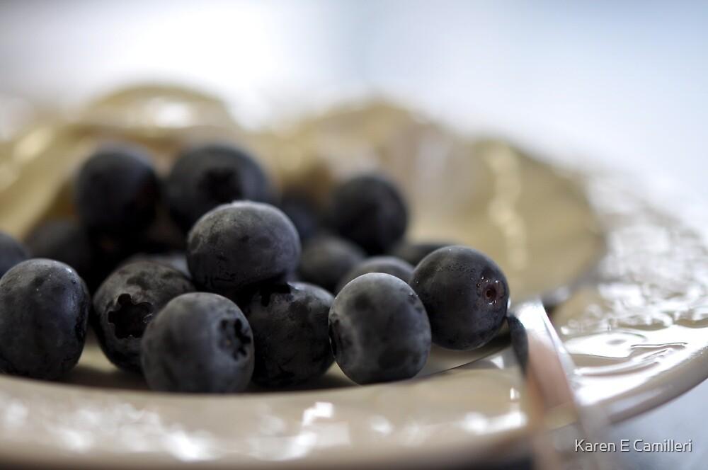 Blueberries & Yoghurt by Karen E Camilleri