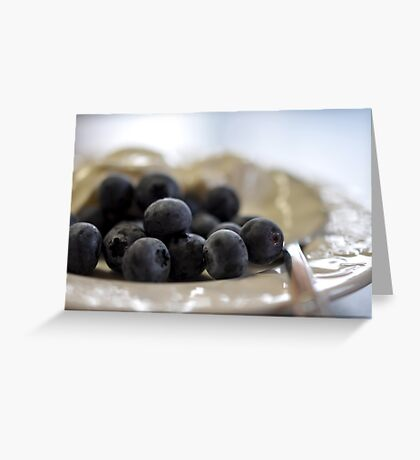 Blueberries & Yoghurt Greeting Card