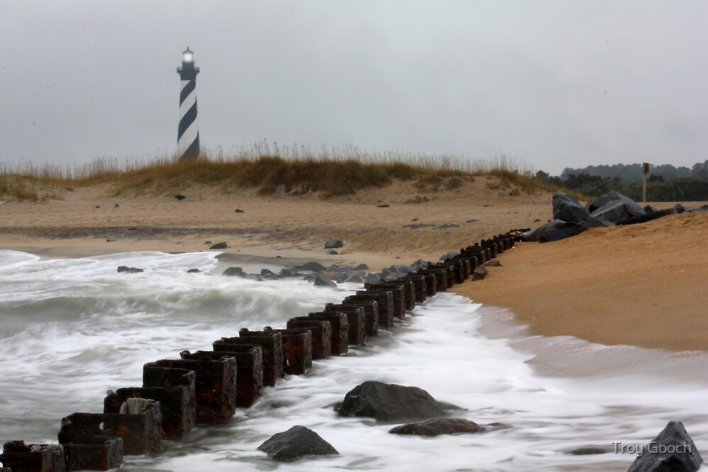 Cape Hatteras Lighthouse and Seashore 2 by Troy Gooch