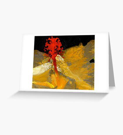 Pistil In Red... Kauai Sensual Series  Greeting Card