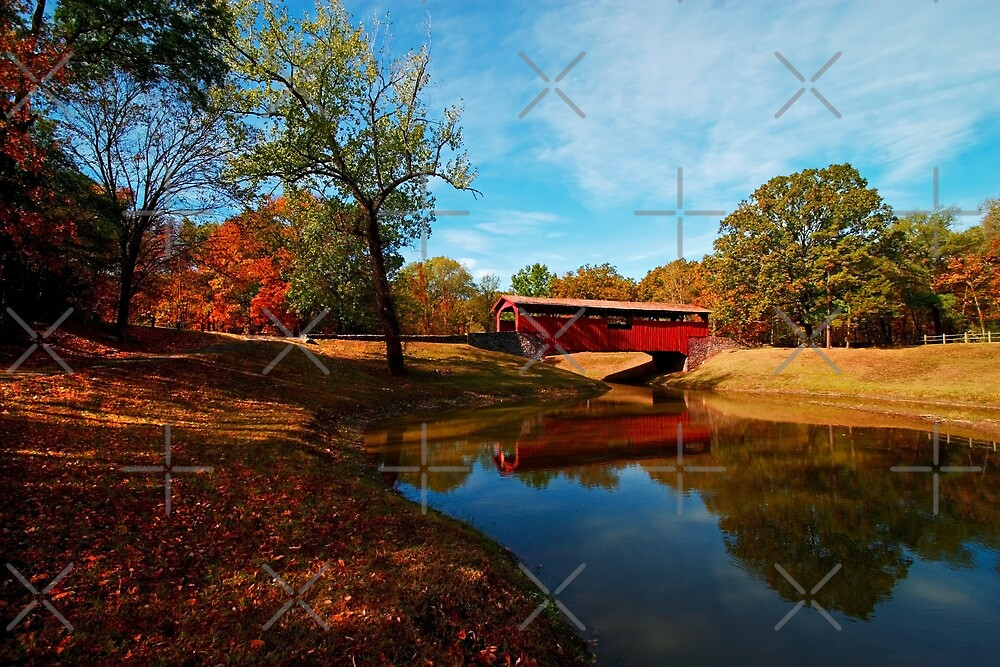 Covered Bridge at Burns Park by Lisa Putman