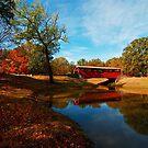 Covered Bridge at Burns Park by Lisa G. Putman