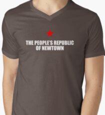 People's Republic of Newtown (White) Men's V-Neck T-Shirt