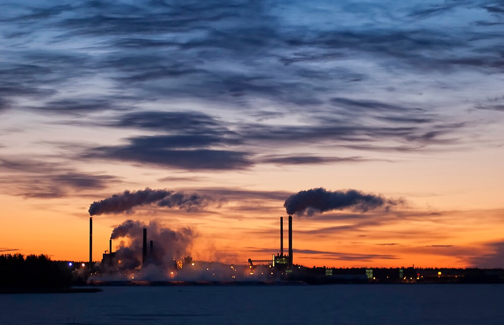 Sunrise factory by Antti-Jussi Liikala