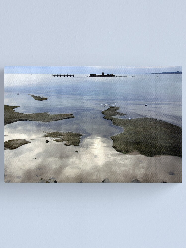 Alternate view of Winter Reflections - Half Moon Bay Canvas Print