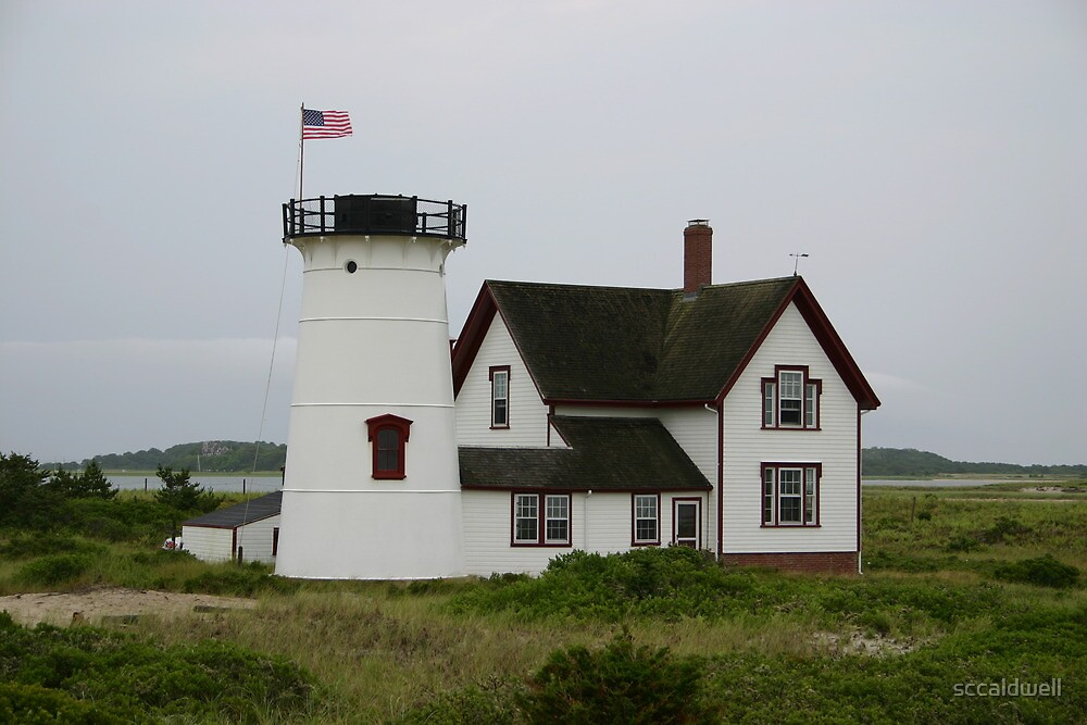 Stage Harbor Lighthouse, Cape Cod, Massachusetts by sccaldwell