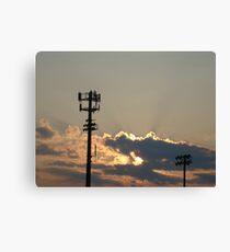 Sunset Over the Baseball Diamond Canvas Print